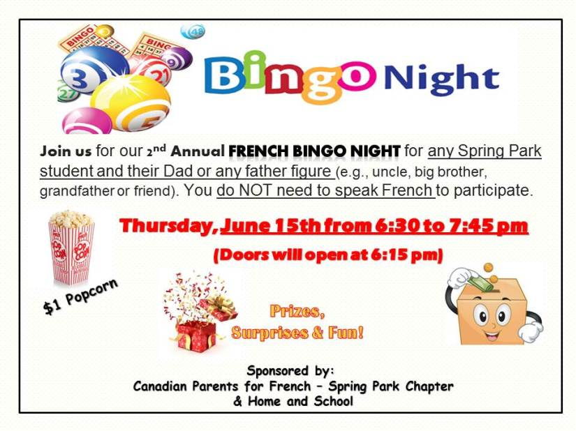 BINGO NIGHT AT SPRING PARK